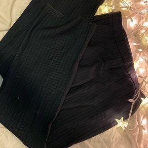 Charcoal gray pinstripe pants